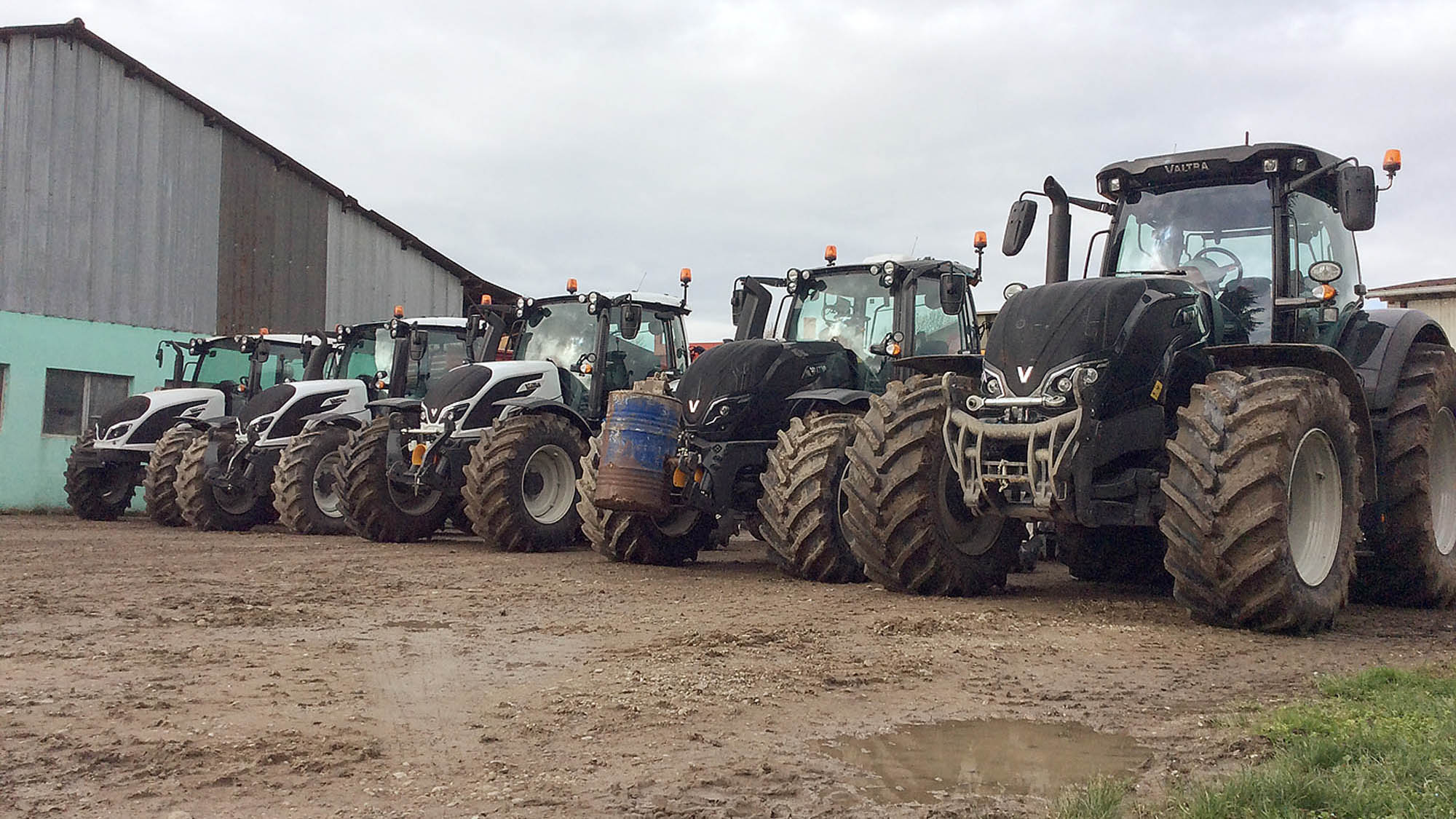 The Streicher family's new fleet of tractors