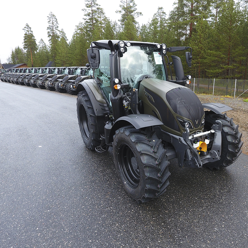 valtra unlimited custom tractor for defence and military purposes