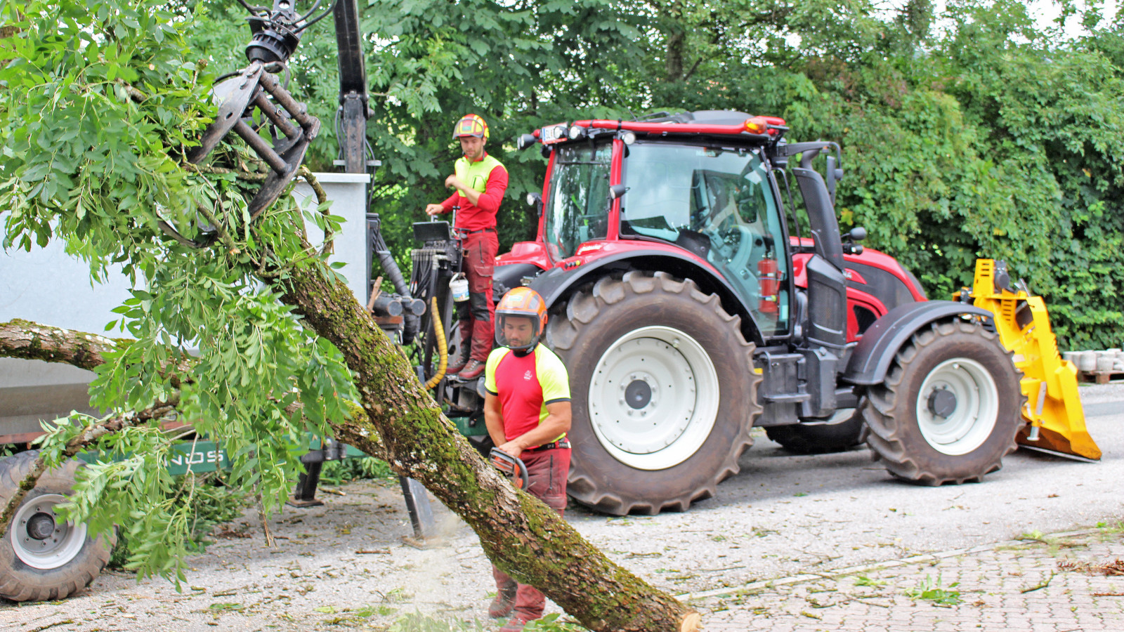 A Valtra N114e HiTech for forestry entrepreneur Maximilian Woerle